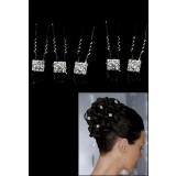 Pic à chignon et coiffure carré avec strass -réf L5C