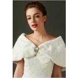 Étole de mariée ivoire pour cérémonie de mariage Réf 3422