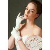 gants de mariage ivoire classe - réf. S62