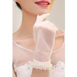 gants de mariage ivoire longueur poignet - réf. S60