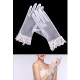 gants de mariage finition dentelle en ivoire - réf. S55