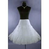 Jupon blanc pour robes mi-longue style rétro année 50's réf W16B