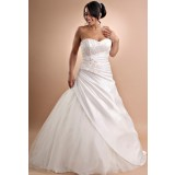 Esther - robe de mariée bi-matière et bustier coeur 604