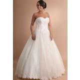 Robe de mariée bustier en dentelle avec broderies - sur demande réf 624