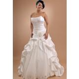 Sur demande- Robe de mariée bustier bi-matière avec broderies - réf 628