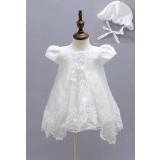 Robe blanche bébé fille baptême réf: EF1778
