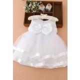 Robe blanche pour bébé et petite fille de mariage réf: EF8009