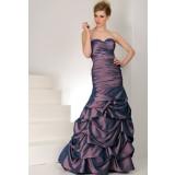 Robe de cérémonie longue violet bleu changeant réf 9554