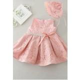Robe petite fille rose poudré cérémonie réf: EF2088