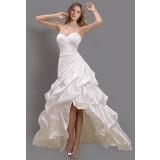 """Robe de mariée haut-bas asymétrique tissus plissé """"Sur demande""""- réf 038"""