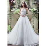 Robe de mariée simple bustier cœur réf SQ263 - sur demande