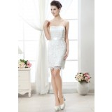 Robe de mariée courte et moderne avec volant - sur demande réf.673