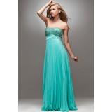 Echo - robe de soirée longue plissé bustier en strass réf 4027