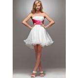 sandra - robe de soiree meringue réf 4005