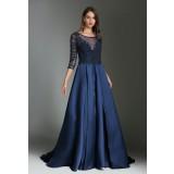 Robe de soirée luxe bleu nuit- réf 1801