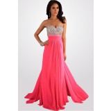 robe de soirée bustier strass dos ouvert - sur demande réf 4103