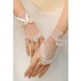 gants de mariée mitaines dentelle courte s16