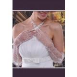 gants de mariée en dentelle long s30