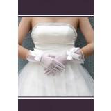 gants de mariée courts dentelle avec nœud papillon s42