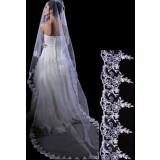 voile de robe de mariée broderie élégante t043