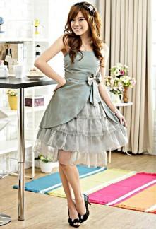 Emma - robe de cocktail babydoll asymétriques 1162