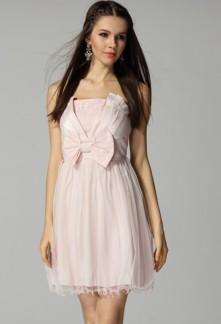 Déstockage - Leelou - babydoll robe de cocktail décolleté V réf 3408