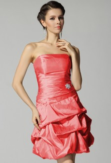 Robe cocktail corail pas cher