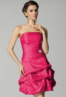 Anna , Robe de cocktail plis ballons réf 4001