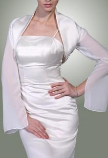 amila- boléro gilet pour robe de soirée cérémonie robe de mariage sur mesure 5908