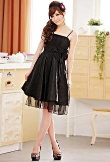 Déstockage - robe de soiree plissé ceinturé par un noeud 8302