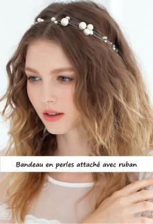 Bandeau en perles style bohème- réf B61
