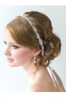 Bandeau simple en strass et perles chic - réf xh-86-1