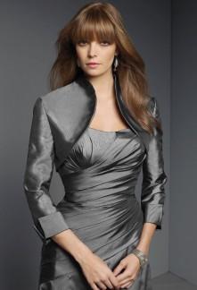 Anda - boléro gilet pour robe de soirée manche 3/4  5906