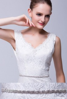 Ceinture très fine pour robe de mariée