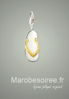 pendentif en forme tong doré charms réf 11