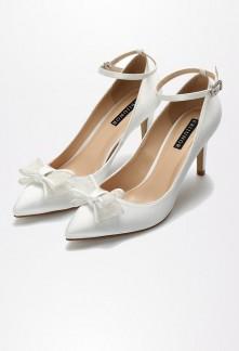 Chaussures de mariage bout pointu nœud Réf 2120