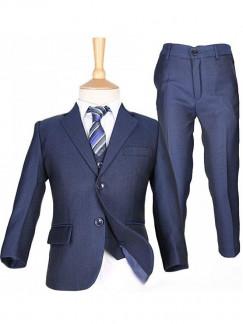 Enzo - costume garçon mariage 5 pcs en bleu marine - réf G831