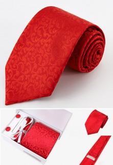 Coffret cravate à motifs floral et accessoires Réf C40