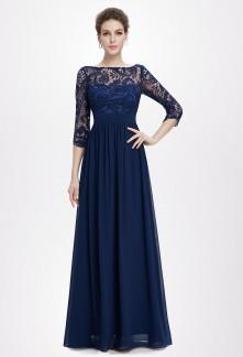 Elégante robe fluide avec buste en dentelle  réf EP8412