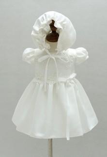 Robe baptême brodée de perles