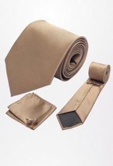 Cravate large et accessoires tons marron Réf C30EM