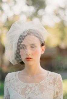 Voilette de mariée rétro simple - réf F020