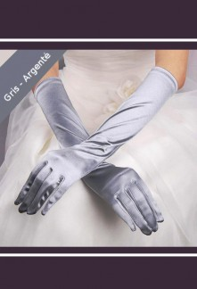 gants en satin longs pour tenue de soirée réf. s38