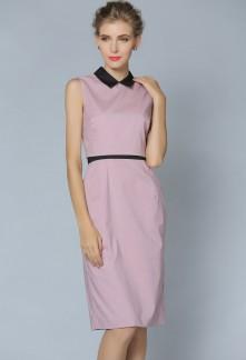 Jolie robe tailleur rose poudré avec petite veste réf YY6297