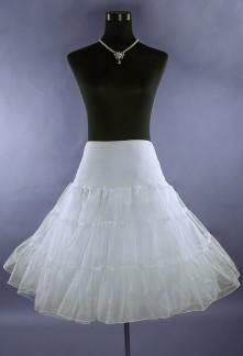 Jupon blanc pour les robes mi-long style rétro année 50's