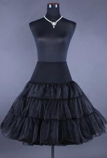 Jupon noir pour les robes de style vintage