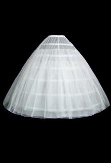 Jupon en 6 cerceaux blanc avec deux couches de tulles réf: Q602