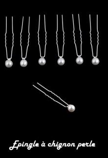 Lot de 5 pics chignon de mariée en perles. réf.L5P