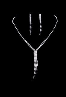 Parure bijoux strass pour mariage réf PA033