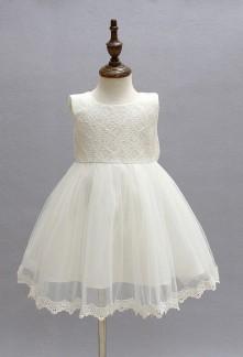 ffb80c01344ae petite robe cortege enfant fille dentelle neoud papillon bebe ivoire